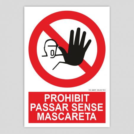 Prohibit passar sense màscara