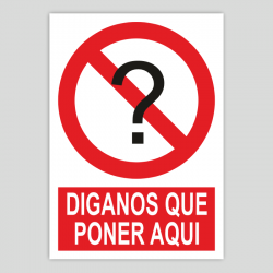 Prohibido personalizable con pictograma