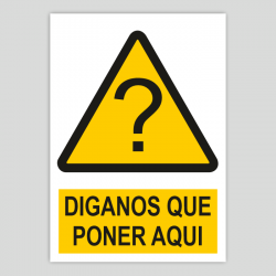 Customizable hazard sign with pictogram