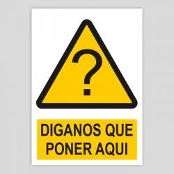 Perill personalitzable amb pictograma