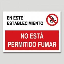 En este establecimiento no está permitido fumar