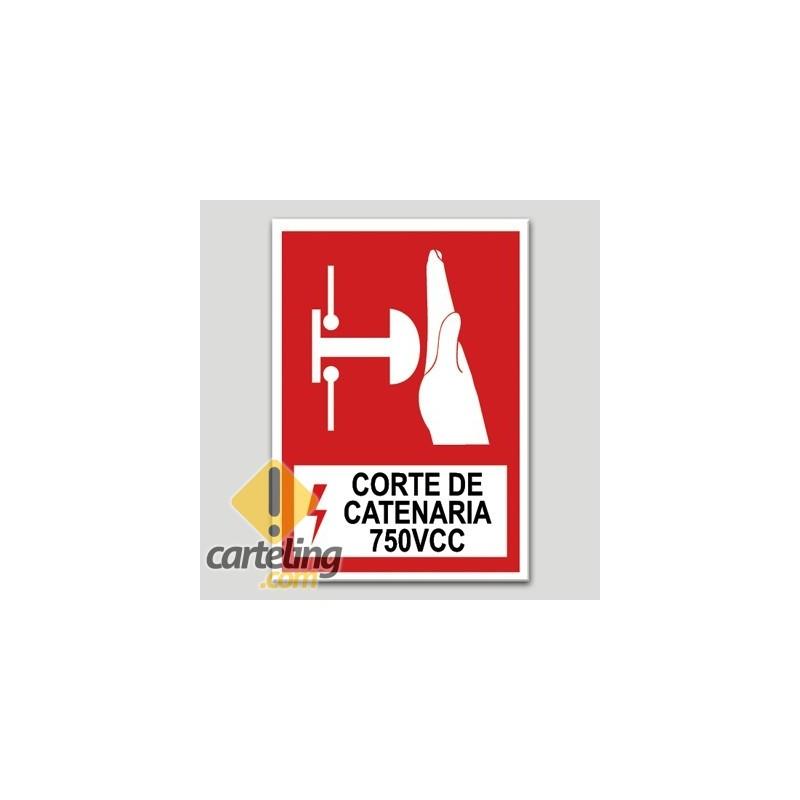 Corte de catenaria 750VCC