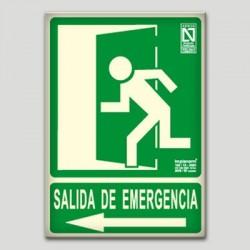 Salida de emergencia hacia la izquierda