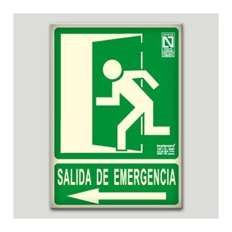 Sortida d'emergència a l'esquerra