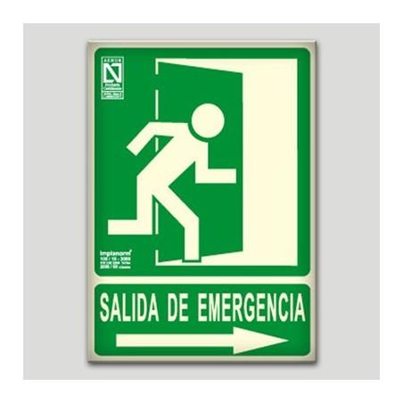 Salida de emergencia hacia la derecha