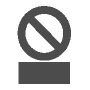 Prohibición con texto