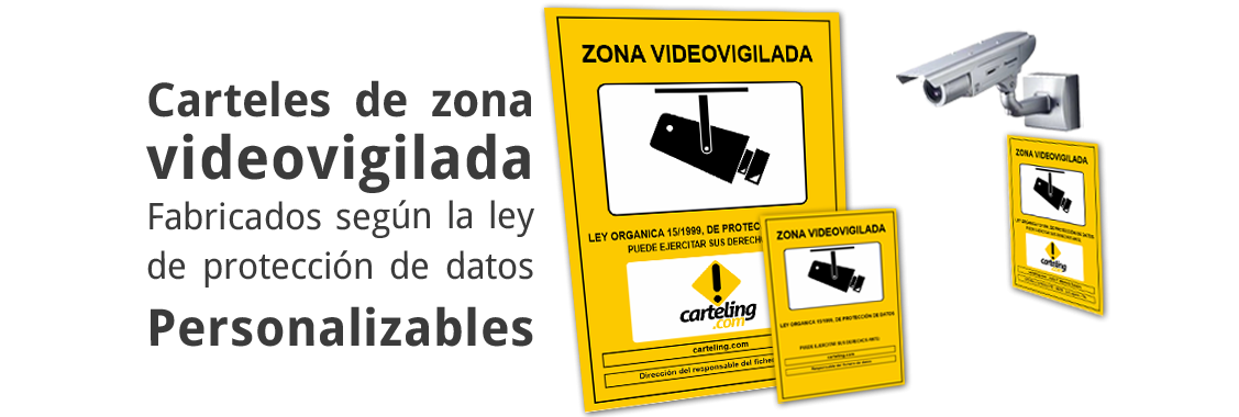 Carteles zona videovigilada personalizables