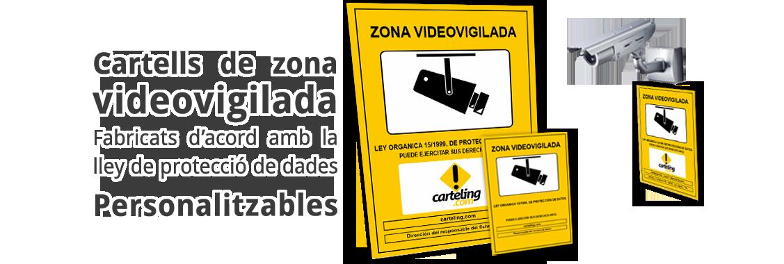 Cartells zona videovigilada